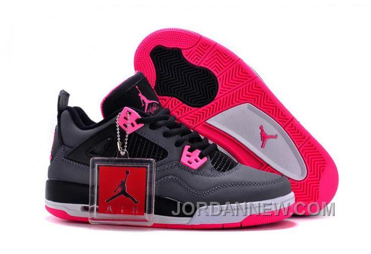 http://www.jordannew.com/2017-girls-air-jordan-4-black-grey-hyper-pink-for-sale-online.html 2017 GIRLS AIR JORDAN 4 BLACK GREY HYPER PINK FOR SALE ONLINE Only $92.00 , Free Shipping!
