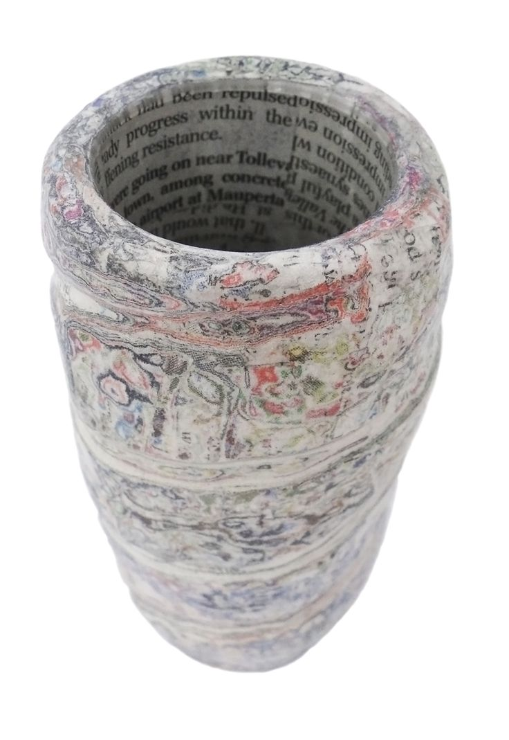 Carved paper vessel with glass liner handmade by Dani Crompton.  #DaniCromptonDesigns www.dani-c.co.uk