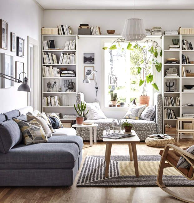 20 Scandinavian Bookshelves Ideas For Your Cozy Living Room Small Apartment Living Room Living Room Decor Apartment Ikea Living Room