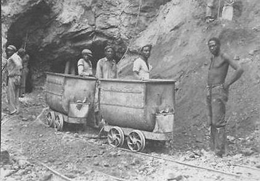 Kimberley diamond mining at the De Beers Mine - the first diamonds were found on the farm lands belonging to the De Beers brothers