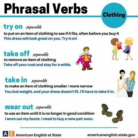 Phrasal  Verb  clothing