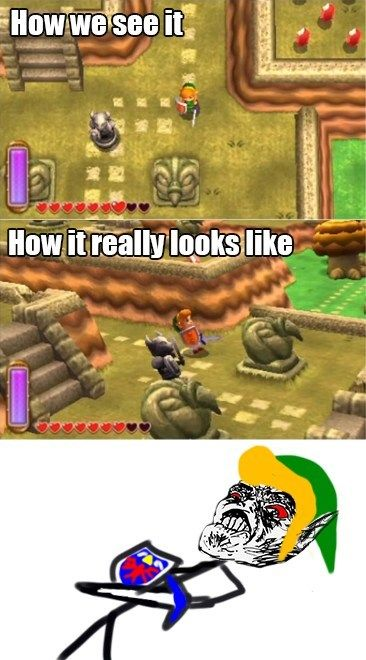 How The Legend of Zelda: A Link Between Worlds really looks like. :P