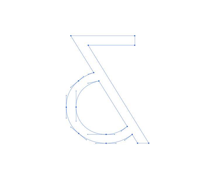 Custom ampersand for logo type