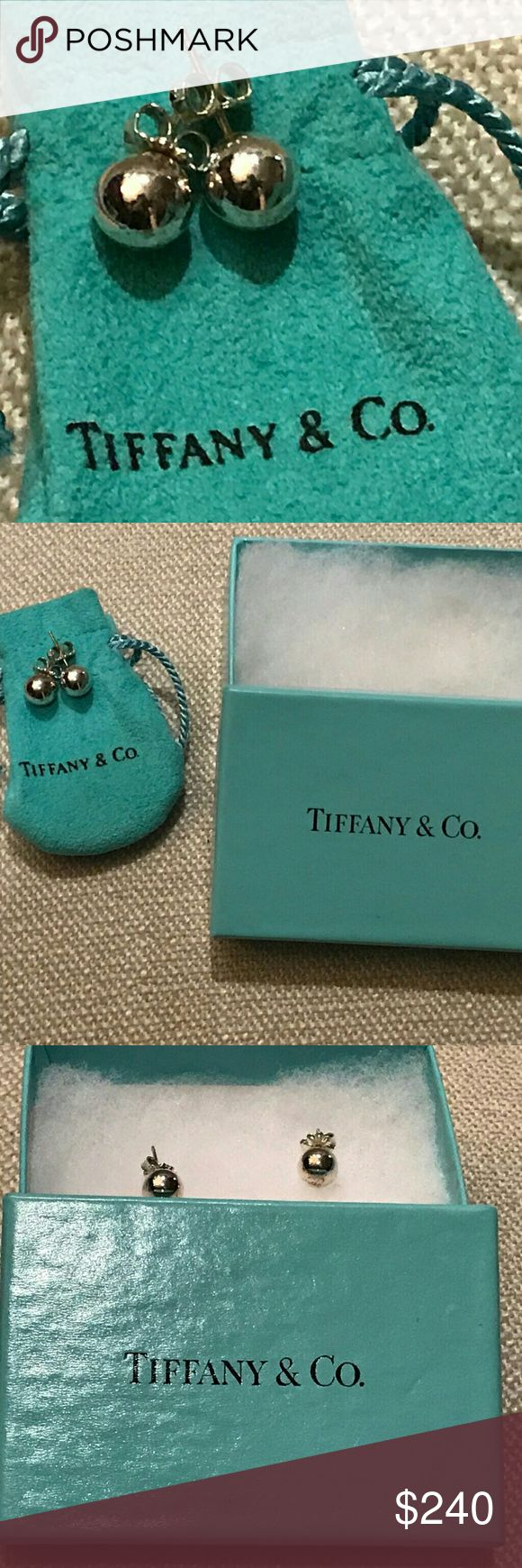 Tiffany and Co bead ball studded earrings Authentic Tiffany and Co earrings with signature post on backs. Comes with pouch and box! Tiffany & Co. Jewelry Earrings