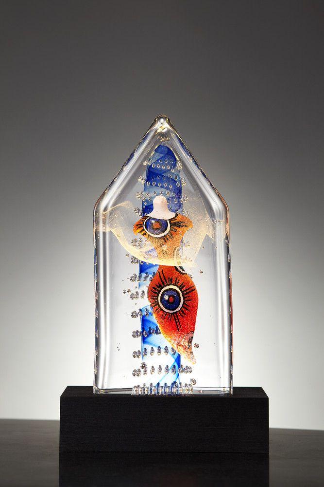 Welcome Home Limited Art glass, design by Kjell Engman for Kosta Boda