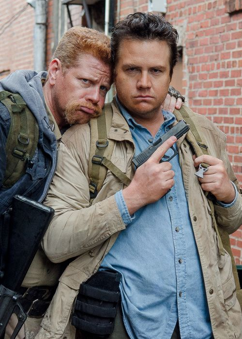 Michael Cudlitz and Josh McDermitt behind the scenes of The Walking Dead Season 6 Episode 14 | Twice As Far