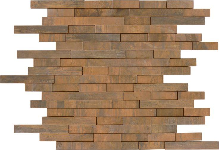 Sheet Size 10 3 4 X 11 1 2 Tile Size Random Bricks Tiles Per Sheet 71 Tile Thickness 1 Copper Mosaic Tile Copper Tile Backsplash Copper Tiles