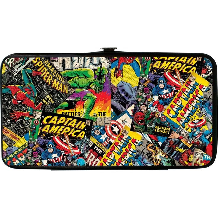 Buckle Down Women's Marvel Character Mix Hinged Card Case Wallet -- You can find more details by visiting the image link. (This is an Amazon Affiliate link and I receive a commission for the sales)