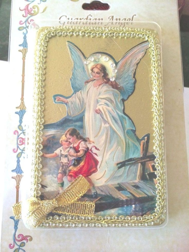 Easter gifts 286 pinterest vintage style guardian angel icon plaque angel christian gift easter gift 275 sale negle Images