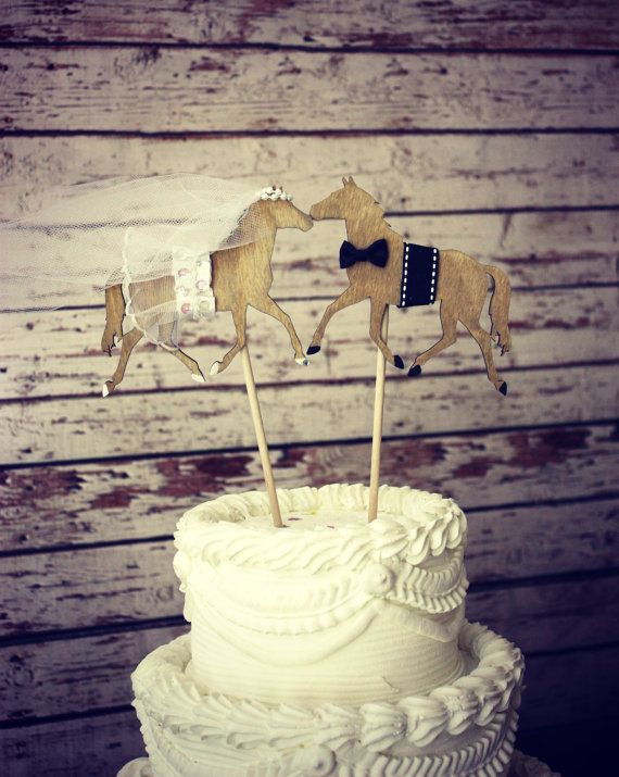 Horse Wedding Cake Topper Horse Lover Horse Back Riding Rustic