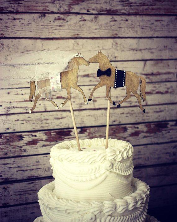 Horse wedding cake topper-Horse lover-horse by MorganTheCreator
