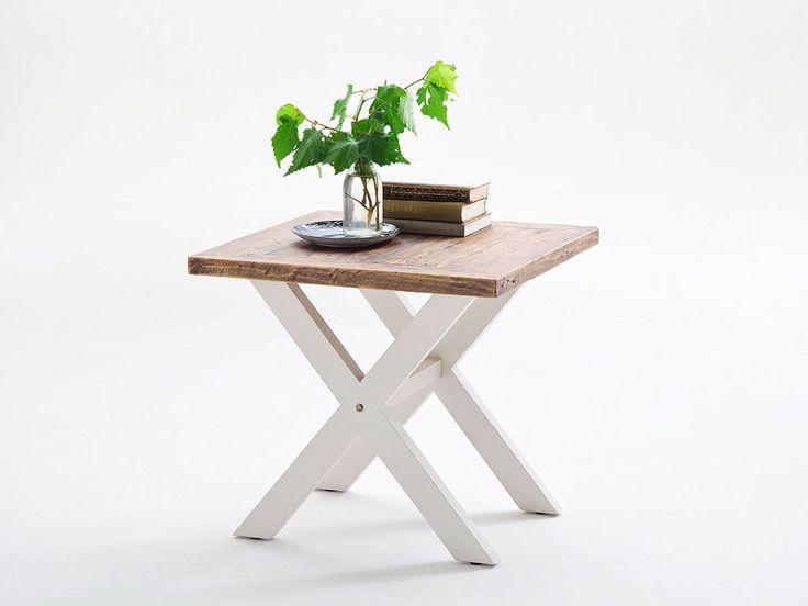 Biały stolik kawowy drewniany Alice