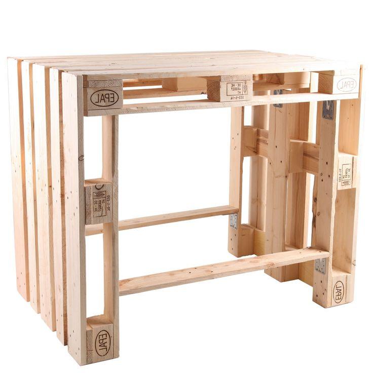 Mit der Wahl des Stehtisches BJÖRN ST, entscheiden Sie sich für ein modernes Möbelstück, mit dem Sie den aktuellen Trend der Palettenmöbel auch i…