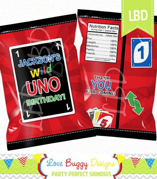Custom 1st Birthday Treat Bag Printable Birthday Chip Bag
