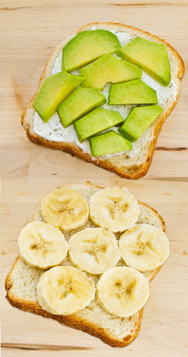 Banana, Sweet Goat Cheese, and Avocado Sandwich | 14 Next-Level Avocado Sandwiches That Will Change You Forever