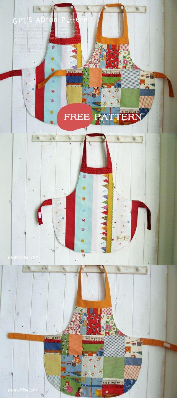 Alina Girls' Apron - Free PDF Pattern!