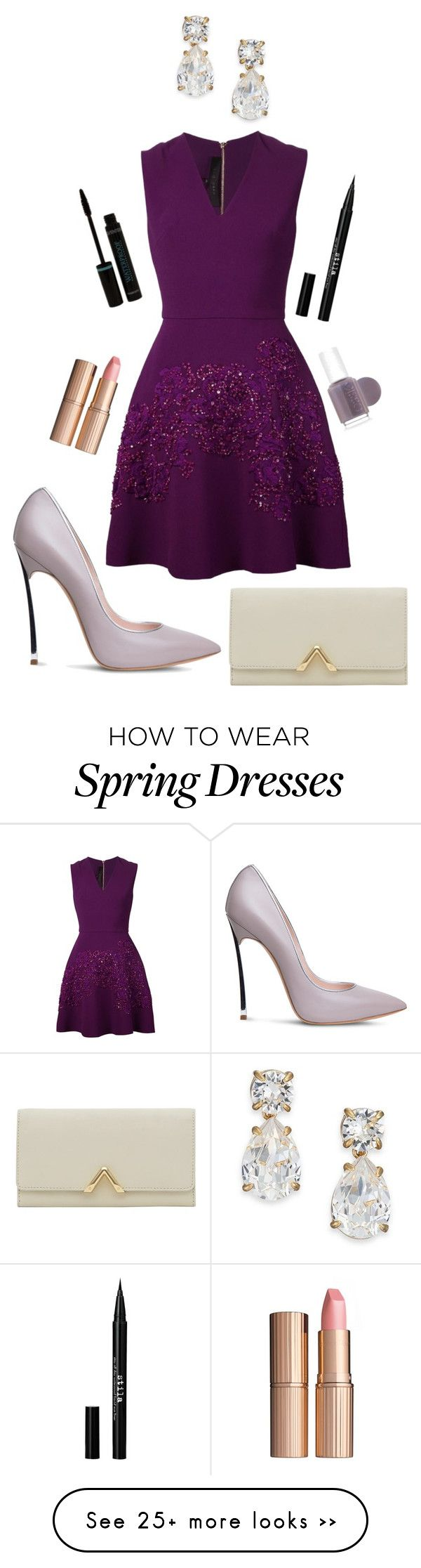 """Untitled #151"" by lo2lo2a on Polyvore featuring Elie Saab, Casadei, Reiss, Kate Spade, Charlotte Tilbury, Stila and Essie"