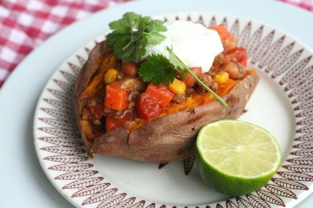 chili con carne met zoete aardappel