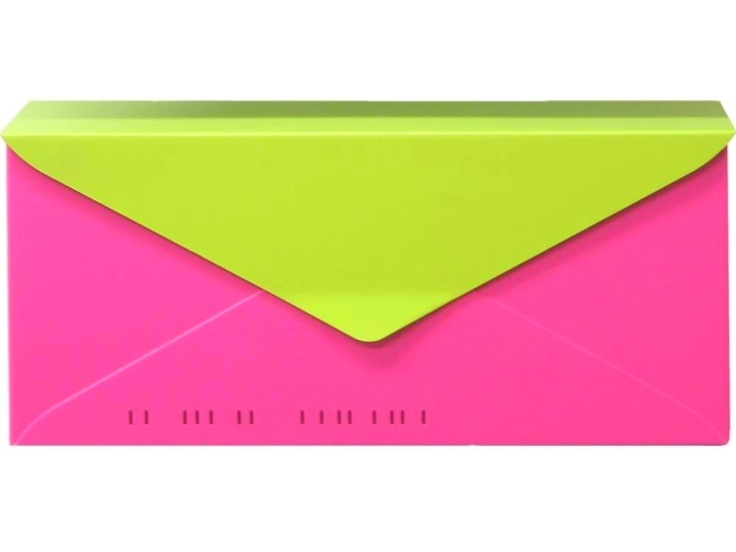 HouseArt #10 Envelope Modern Wall-Mount Mailbox in Key Lime and Bougainvillea Pink. A beautiful tropical mailbox; http://shop.360yardware.com/10-Wall-Mount-Letterbox-0503.htm?productId=776  Please call for multi-color orders.