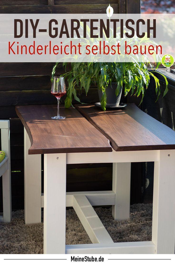 Gartentisch Selbst Bauen Mit Baumkante Diy Gartentisch Selber