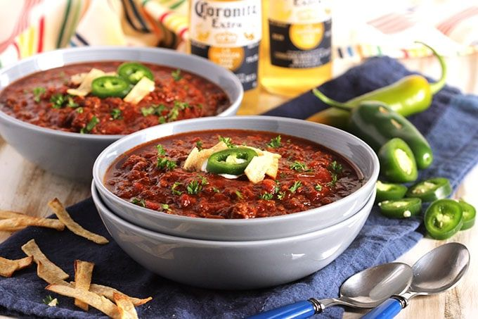 This Sweet and Spicy Chili is made in the slow cooker for deep, concentrated flavor. The BEST chili recipe on the entire planet. Period!