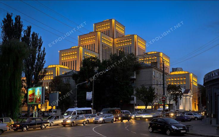 Menorah, Менора, освещение фасада, подсветка фасада. Эксполайт, Expolight