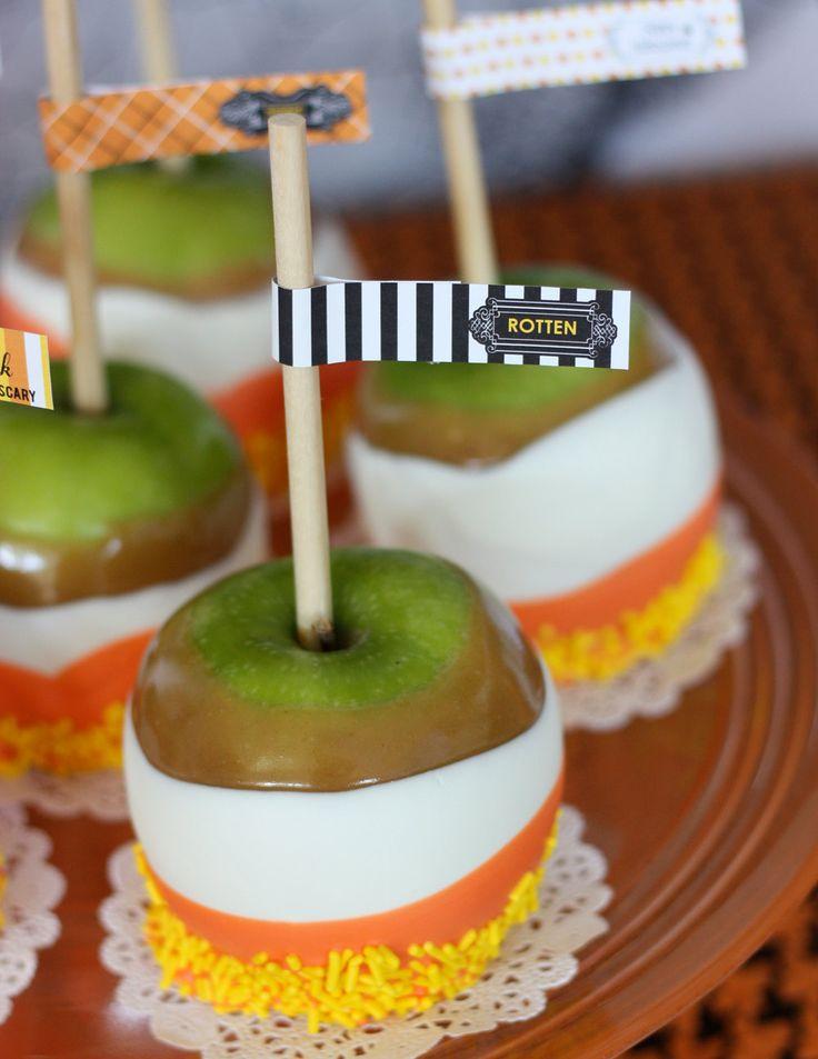 candy corn candy apple #halloween: Halloween Fall, Candy Corn, Candy Apples, Candycorn, Halloween Food, Halloween Party, Caramel Apples