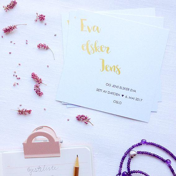 Save the date i design 'Rosa, takk'  // ELM DESIGNKOLLEKTIV 2016