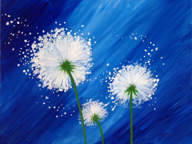 Wishes. Paint night canvas