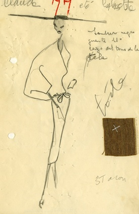 ATELIER SKETCH, SUMMER 1953,Balenciaga