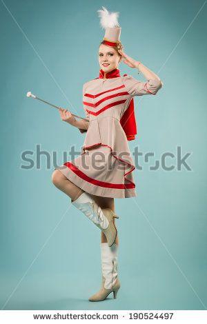 Pretty girl in uniform majorettes