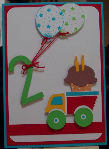 Nathan 2nd Birthday by XcessStamps - Cards and Paper Crafts at Splitcoaststampers
