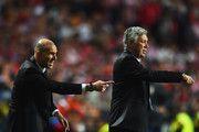 Zinedine Zidane and Carlo Ancelotti Photo