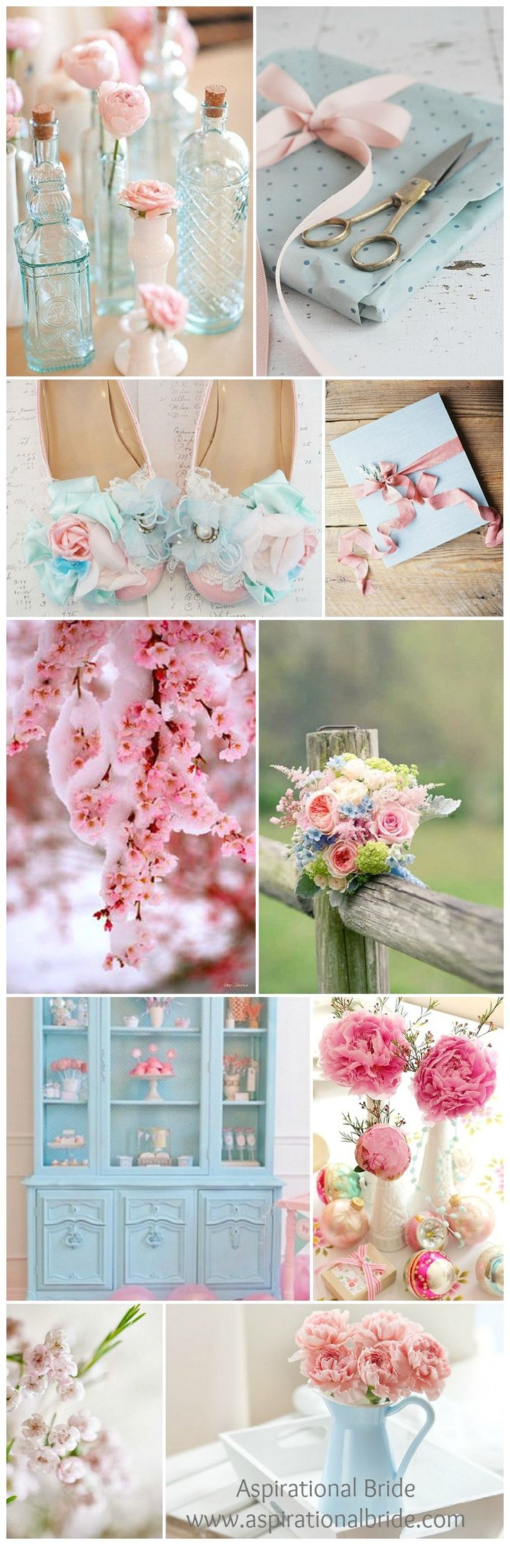Iced / pastel pink wedding theme inspiration. Nice for a blush wedding. #AspirationalBride