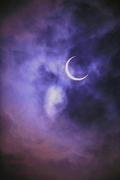 Moon Night And Purple Image