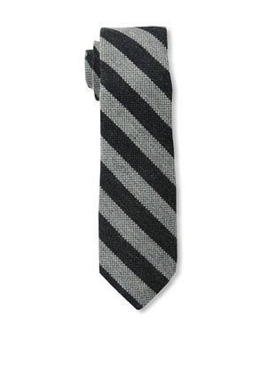 Gitman Brothers Men's Woven Stripe Tie, Black