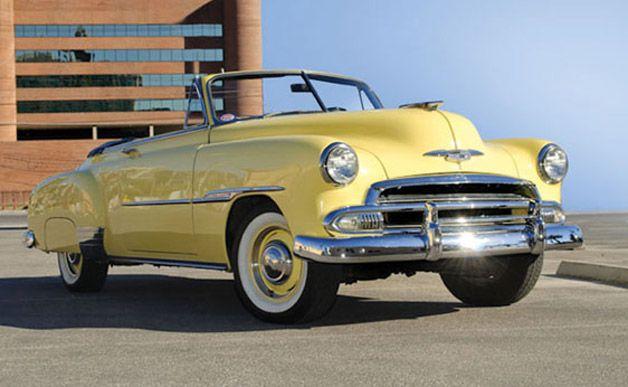 "Steve McQueen's 1951 Chevrolet Styleline Deluxe Convertible. He drove it in his last movie ""The Hunter"""