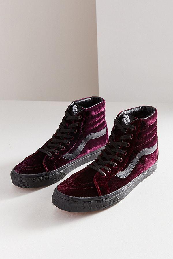 33e84a0025 Slide View  2  Vans Velvet Sk8-Hi Reissue Sneaker