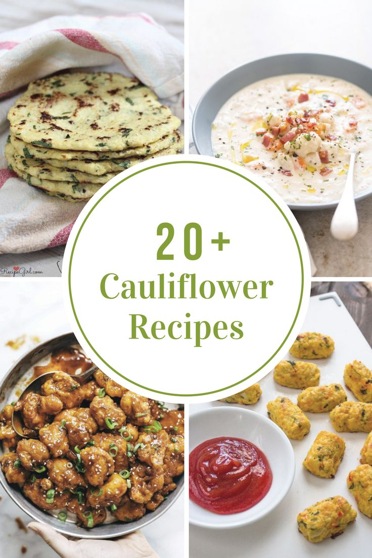 Sharing some Cauliflower Recipes that your family are sure to love and won't even know that they are eating Cauliflower....now that's a win in my book!