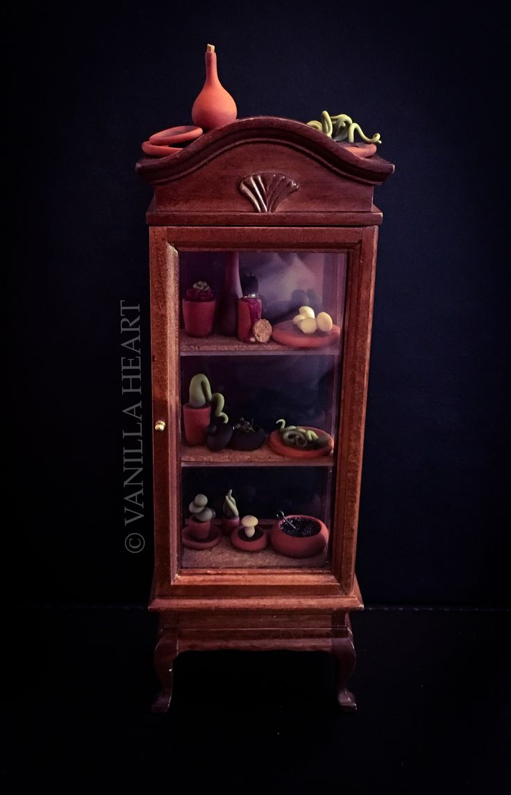 OOAK 1:12 Dollshouse Whimsical Witch & Wizard Herbology Supply Case Miniature By Vanilla Heart