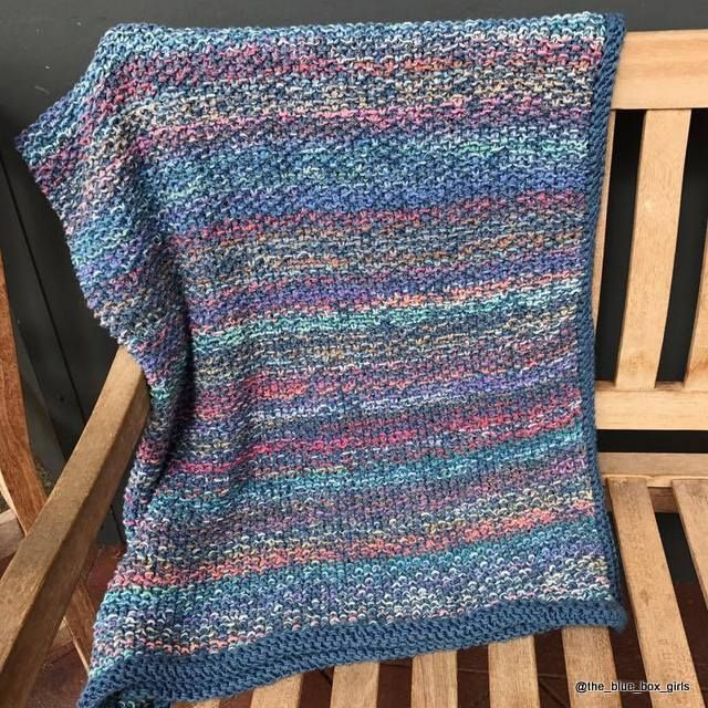 Called 'Waste Not Rug'. Knitting Pattern by The Blue Box.