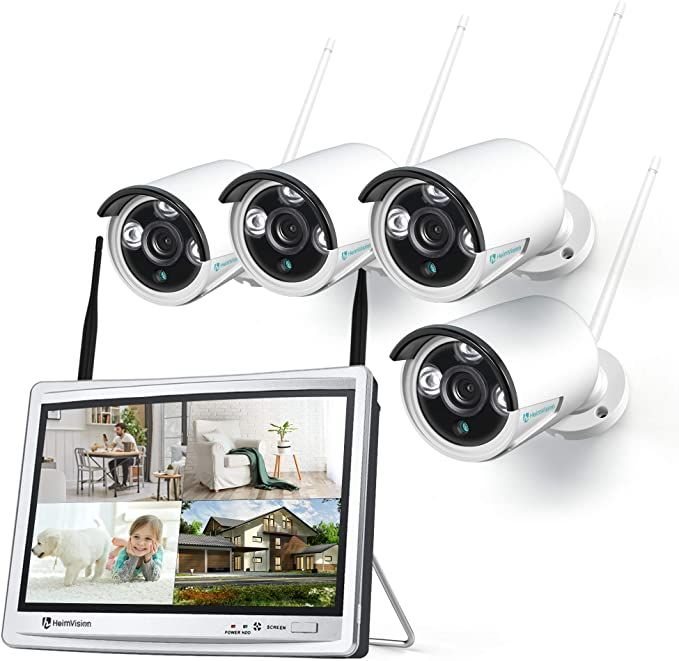 Amazon Com Heimvision Hm243 1080p Wireless Security Camera System With 12 Inc In 2021 Wireless Security Camera System Wireless Security Cameras Security Camera System