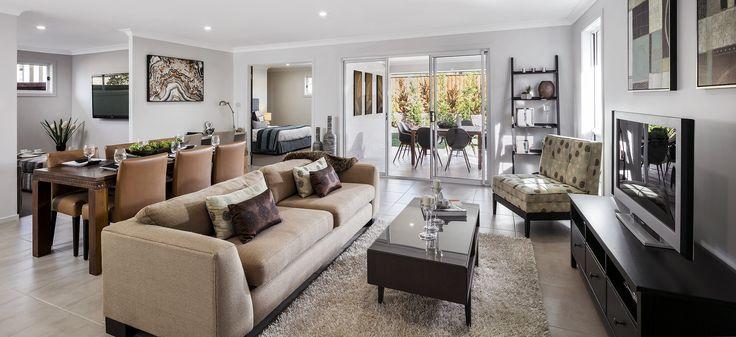 The Oak - Open Plan Living   http://www.newlivinghomes.com.au/display-homes/ #newlivinghomes #living  #design #home