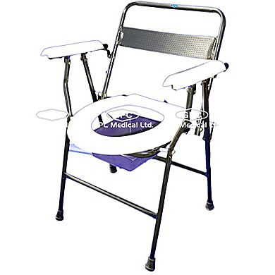 GPC Medical Ltd. - Exporter, Manufacturers & Supplier of Folding commode chair, folding commode chair with back, portable commode chair from India.