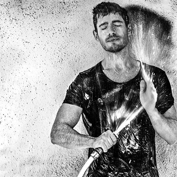 Pin for Later: 24 Supersexy Reasons to Love British Actor Julian Morris When He Sprayed Himself With a Bunch of Water