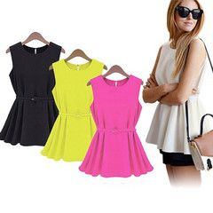 Bright summer colours fit all occasions Made from lightweight chiffon material which keeps you cool and comfortable during the summer Comes with removable belt to light up your stylish look