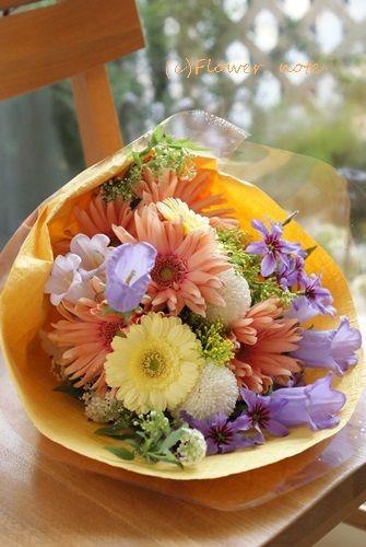 【今日の贈花】離任式に先生に贈る花束|Flower note の 花日記 (横浜・上大岡 アレンジメント教室)