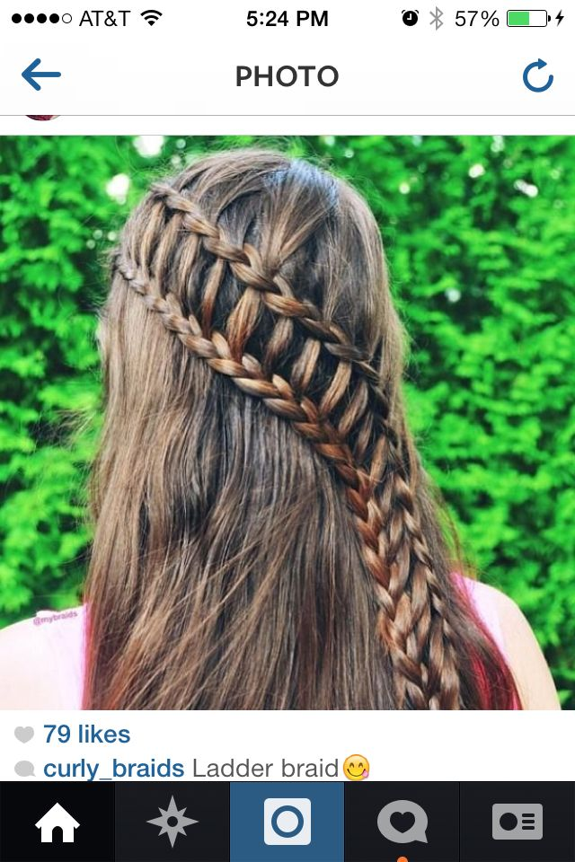 Waterfall ladder braid