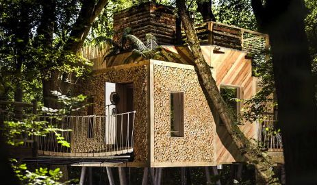 Luxury Glamping Dorset near Lyme Regis with hot tub. Crafty Camping is the ultimate for adults luxury glamping treehouse experience. Visit our amazing woods