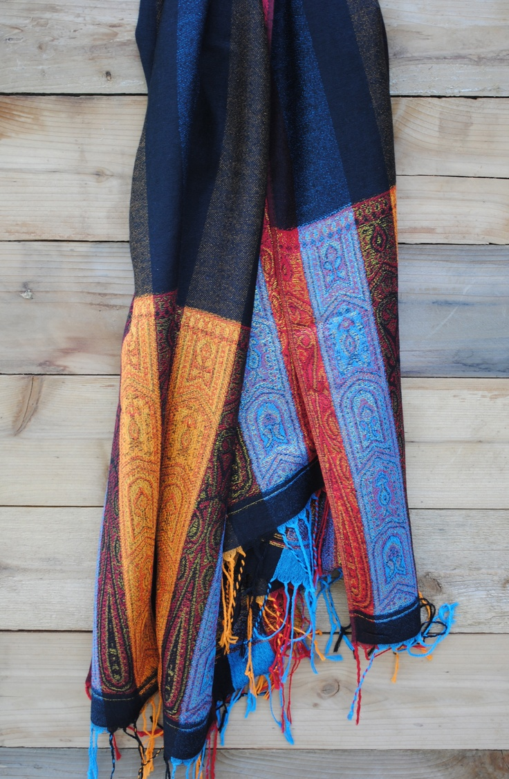 This handmade Thai scarf would dress up any outfit